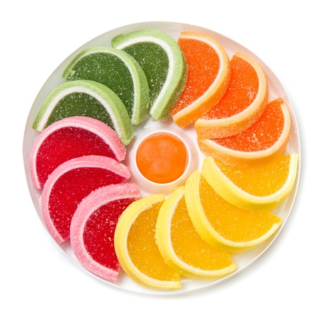 Color fruit jelly candies Stock Photo - 17331434