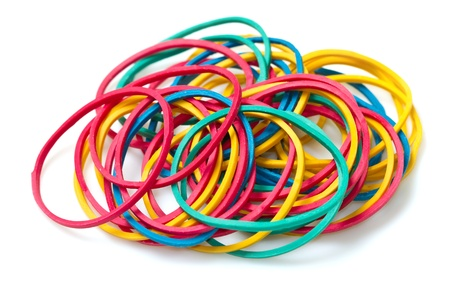 elastic: Colored rubber bands Stock Photo