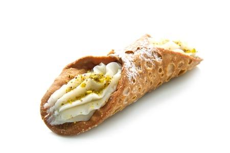 sycylijski: Sycylijczyk cannoli z pistacjami