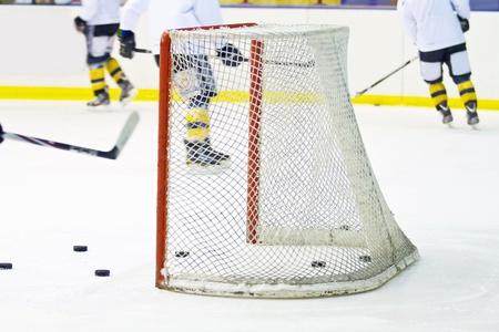 heed: hockey net  Stock Photo