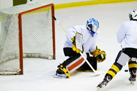 hockey player during a game photo