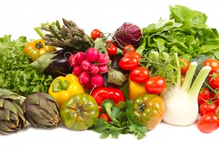 fresh vegetable isolated on white background Stock Photo - 18283968