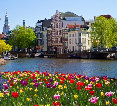 One of canals in Amsterdam Stock Photo - 18367956