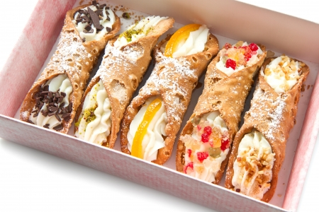 mixed Sicilian cannoli photo