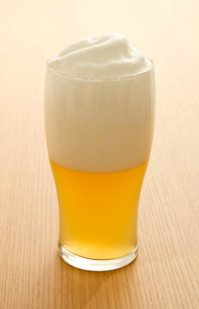 taphouse: wheat beer in a glass Stock Photo