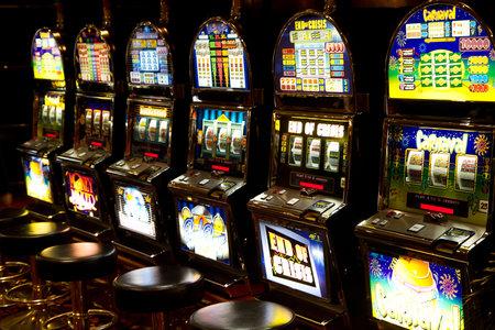 カジノのスロット マシン 報道画像