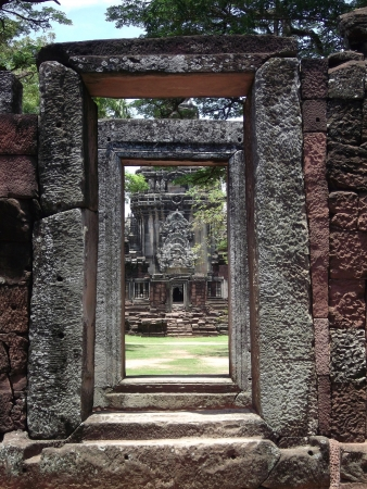 south east asia:  historic temple in  Thailand