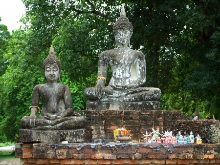 Buddha statue in  historical park, Thailand photo