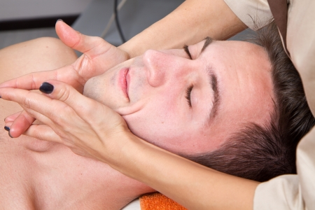 Man getting massage in thebeauty center Stock Photo - 23568908