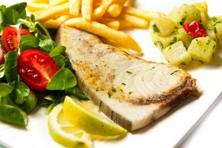 pez espada: pescado asado
