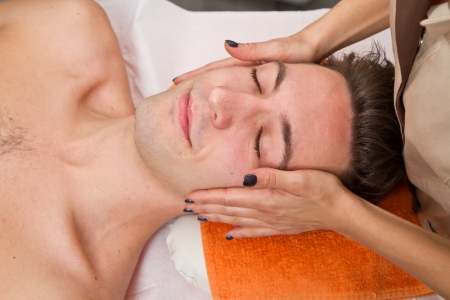 Man getting massage in thebeauty center Stock Photo - 24038375