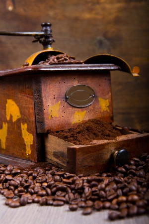 Coffee Grinder and Beans photo