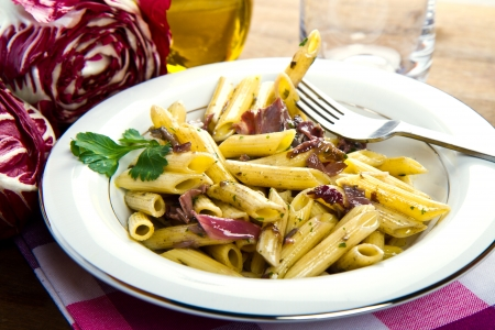 pasta with chicory photo