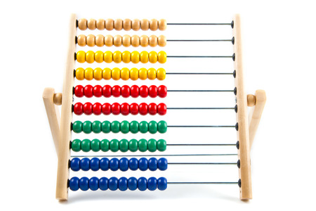 Colorful toy abacus to learn counting  photo