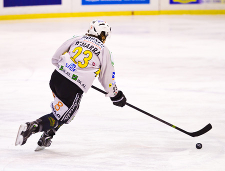 olympic sports: Ice hockey player during a game Editorial