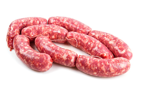 comestible: a fresh sausage isolated on white background