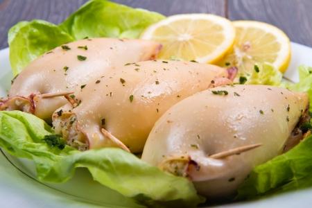 calamar: Deliciosos calamares rellenos caseros