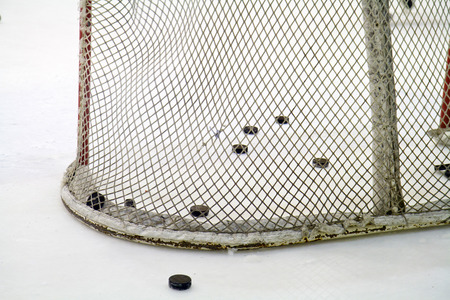 ice hockey net  photo