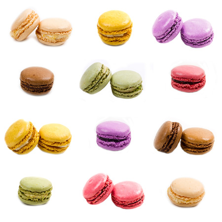 macaroon collage photo