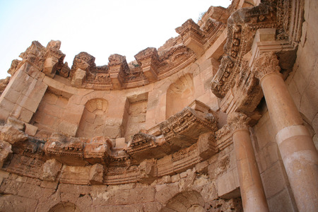hadrian: Ancient Jerash. Ruins of the Greco-Roman city of Gera at Jordan  Stock Photo