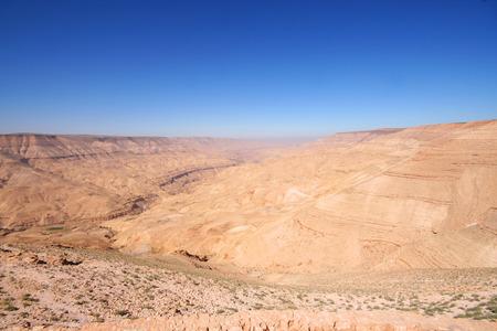 lawrence: Wadi Rum desert landscape,Jordan  Stock Photo
