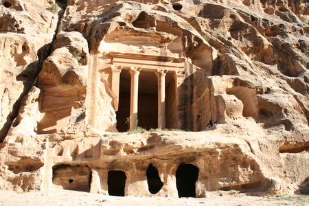The Treasury in the ancient Jordanian city of Petra, Jordan. photo