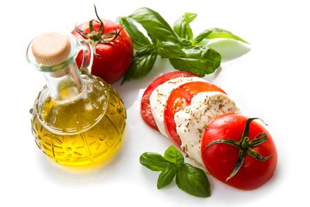 mozzarella with tomato  photo