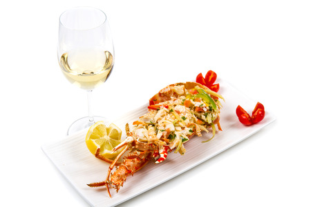 lobster tail: catalan lobster Stock Photo