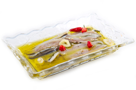 bluefish: marinated anchovies