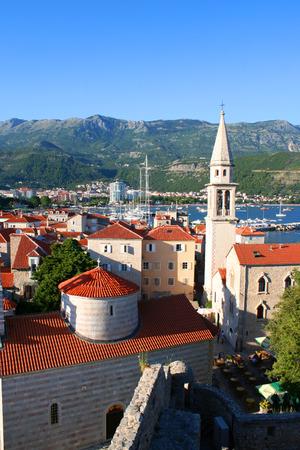 montenegro: red roofs of Budva in Montenegro citadel Stock Photo