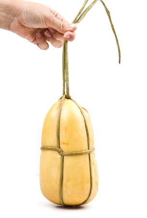scamorza cheese: Scamorza, typical italian smoked cheese Stock Photo