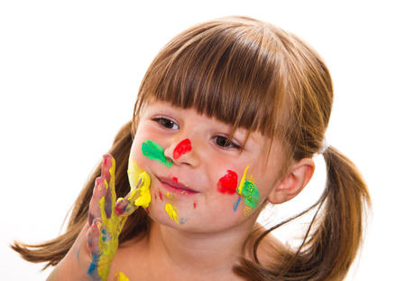 small articles: Beautiful little girl with painted face