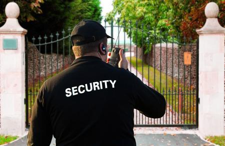 garde corps: Agent de s�curit� Banque d'images