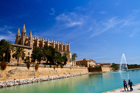 majorca: Cathedral of Palma de Majorca Stock Photo