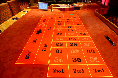 roulette table: Roulette table in a casino Stock Photo