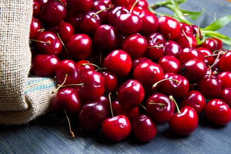 groupware: cherry on wood Stock Photo