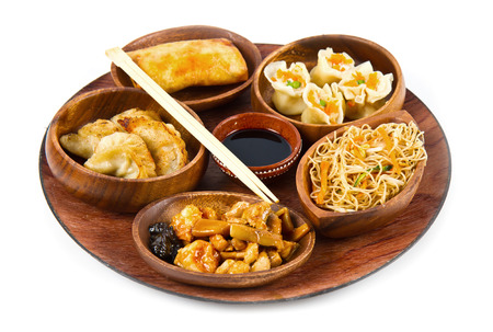 comida japonesa: comida china mezclada