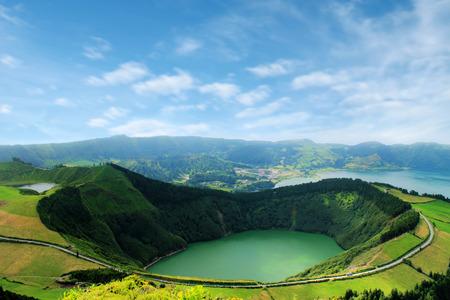Beautiful lake of Sete Cidades, Azores, Portugal Europe