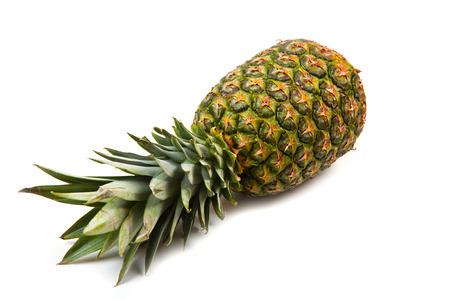 fruit background: pineapple isolated on white