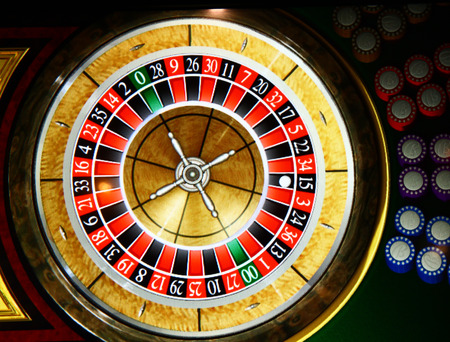 stopped: Roulette wheel stopped Stock Photo