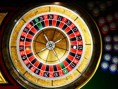 ruleta de casino: Rueda de la ruleta se detuvo