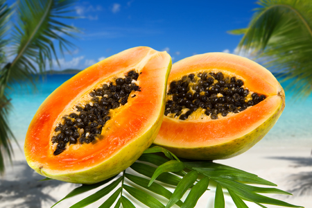 cutaneous: Fresh and tasty papaya