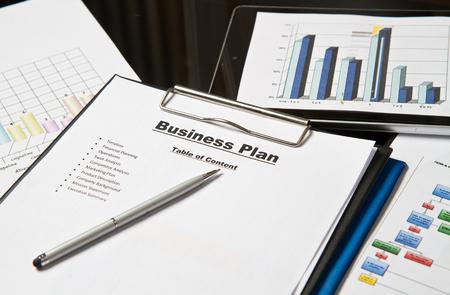 Plan voor een nieuw bedrijf Stockfoto