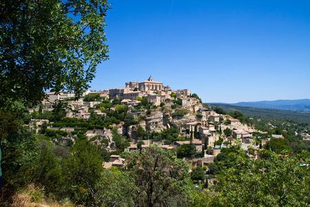 gordes: Gordes medieval village in Southern France Stock Photo
