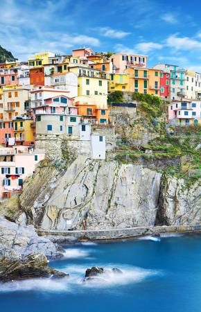 romance sky: Manarola, Cinque Terre Italian Riviera, Liguria