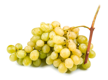 white grape: white grape on white background