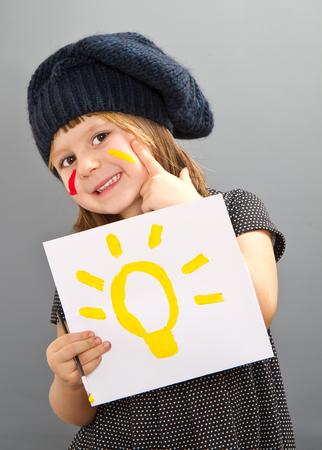 painter girl: little painter girl with an idea
