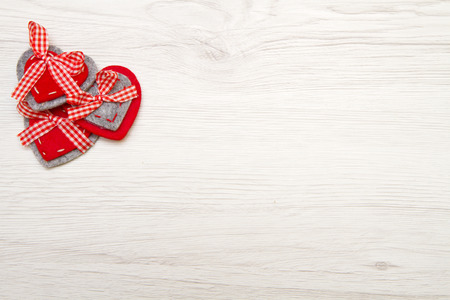 valentines background: Valentines day background with red heart over wood Stock Photo