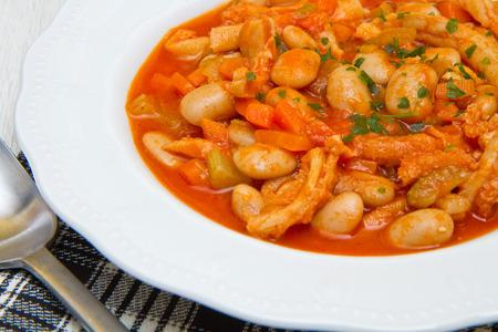 trippa: italian dish with trippa Stock Photo