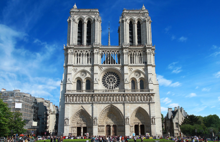 notre dame: Notre Dame Cathedral in Paris Stock Photo